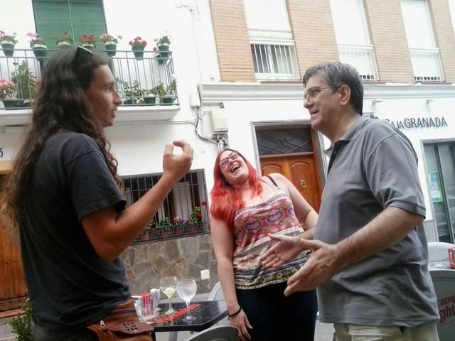 Con Cristina y Adrián en Cádiar
